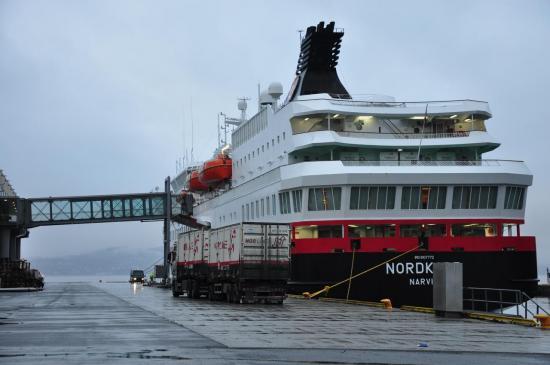 Le MS Nordkapp avant le départ
