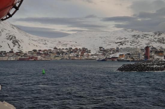 Arrivée à Honningsvåg (île du cap nord)
