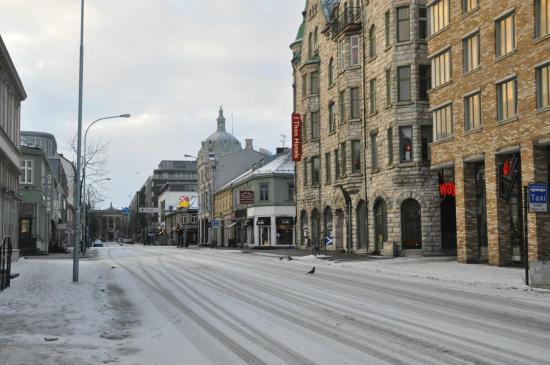 087 Trondheim, un dimanche matin d'hiver