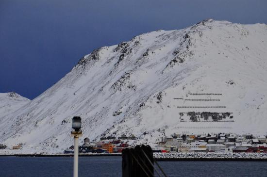 Bientôt l'arrivée à Honningsvåg...
